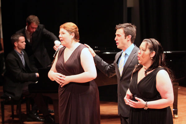Carly Rapaport-Stein, Philippe Bolduc, and Petra Šovcovová sing the gorgeous trio from Così fan tutte accompanied by Brian Osborne.