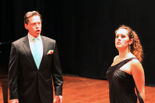 Mark Watson and Nadine Kulberg ignite sparks in a scene from Semiramide.