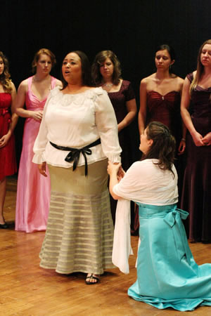 Courtney-Camille Haynes and Bonnie Frauenthal sing La VesTale.