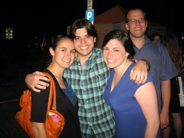 Margaret Musick, Alex Turpin, April Martin, and Bill Schaller enjoy a night out in Urbania