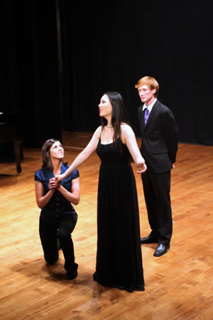 he stunning trio from Mozart's ASCANIO IN ALBA was beautifully sung by Emily Atkinson, Lei Xu, and Erik Wilson