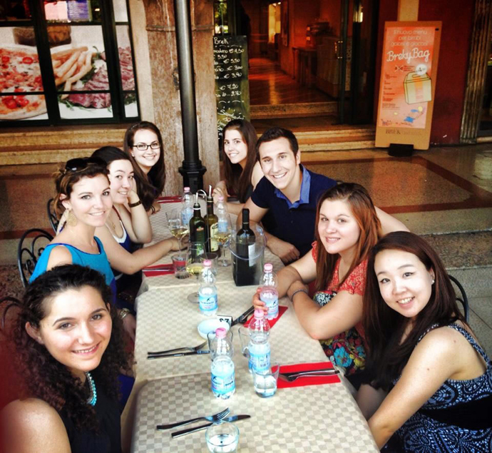 Dinner in Verona before the opera.