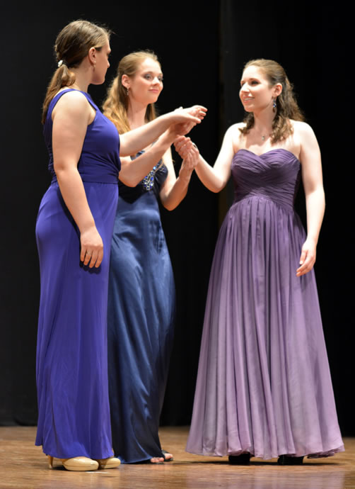 Emilyn Badgley, Rose Hegele, and Jessica Newman perform a trio from ORFEO ED EURIDICE.